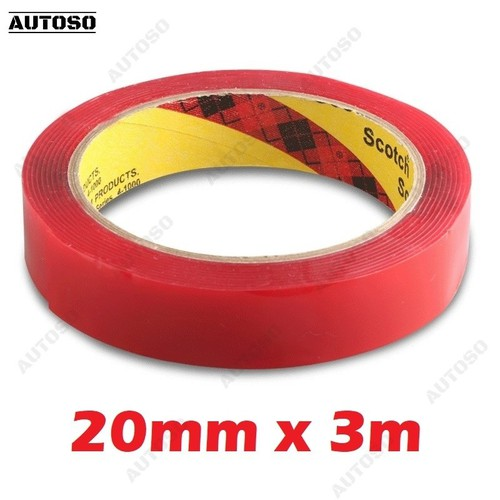 Băng dính 2 mặt trong suốt 3mx20mm, dán đồ chơi xe hơi - AUTOSO