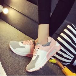 Giày thể thao nữ năng động trắng hồng