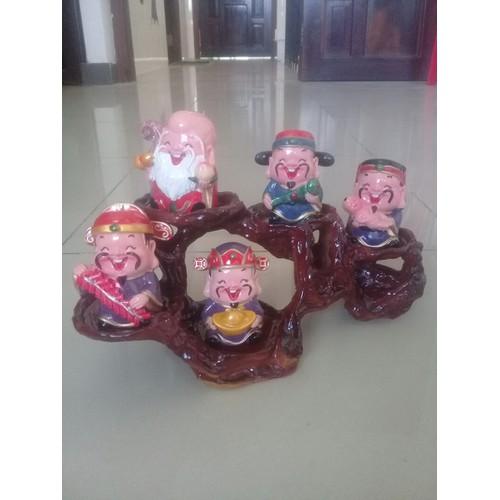 Bộ tượng 5 ông thần tài kèm đế