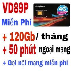 Sim 4G Vinaphone VD89P 120GB tháng, gọi miễn phí 43000p