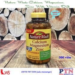Viên uống bổ sung Nature Made Calcium Magnesium Zinc
