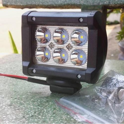 đèn led trợ sáng spotlight 18w 12-32vdc.