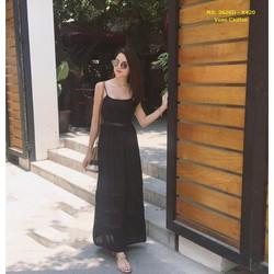 Đầm Maxi Hai Dây Phối Ren
