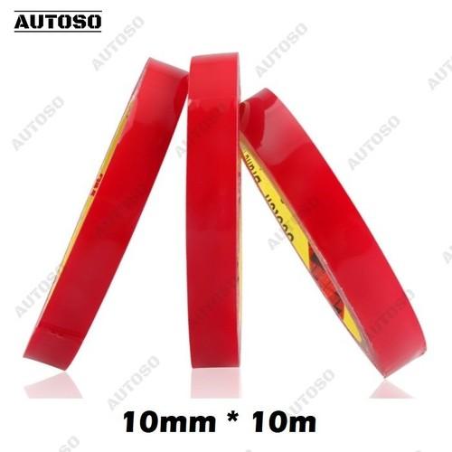 Băng dính 2 mặt trong suốt 10mx10mm, dán đồ chơi xe hơi - AUTOSO