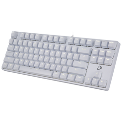 Bàn phím cơ Gaming DareU DK87- White White LED, Red D switch
