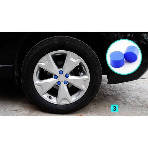 Bộ chụp ốc  lazang, chụp ốc bánh xe- màu xanh