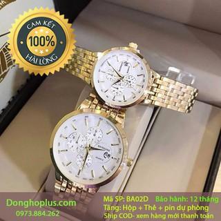 Đồng hồ đôi nam nữ Ba02D chính hãng - đồng hồ đôi nam nữ chính hãng thumbnail