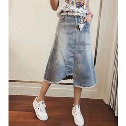 Chân váy jean cá tính