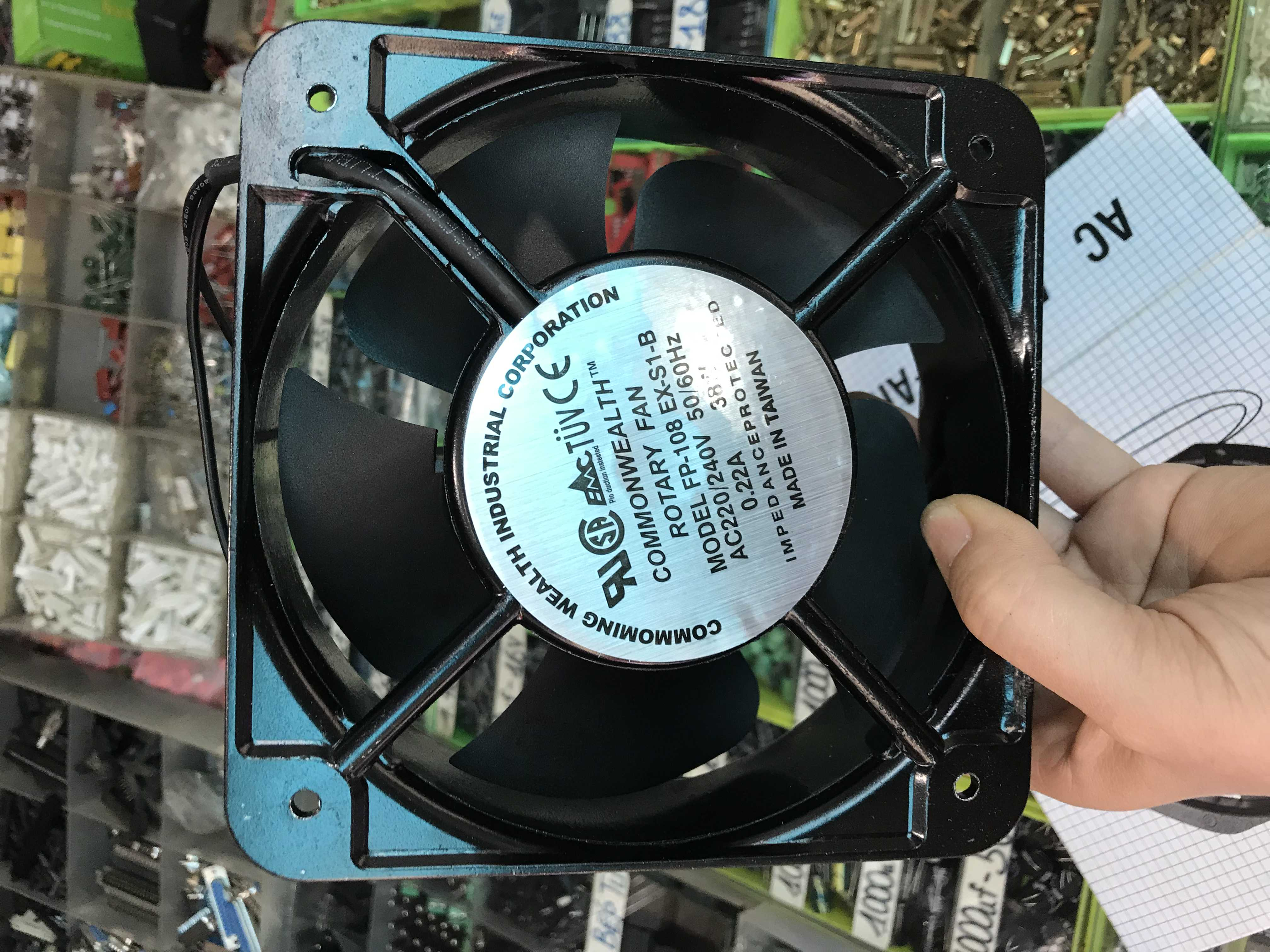 Quạt thông gió Rotary 15x15x5cm 220v 38w - quatRotary220v38w
