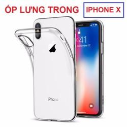 Ốp lưng dẻo trong suốt Iphone X có hộp