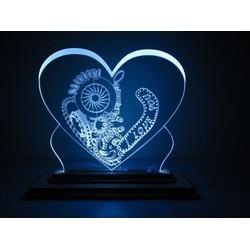Đèn led trái tim I Love You