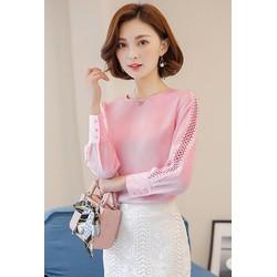 Áo kiểu nữ đẹp mẫu Mới tay đắp Ren viền
