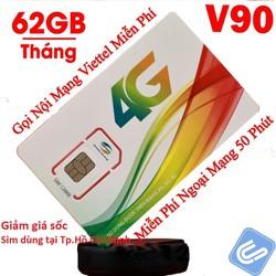 Sim Viettel HCM90 miễn phí tháng đầu dùng tại TP Hồ Chí Minh