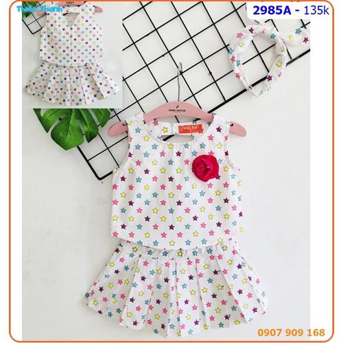 Set váy ngôi sao đính hoa kèm băng đô dễ thương - 2985