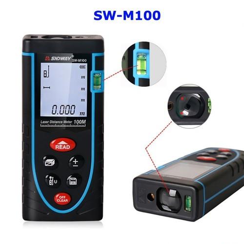 Thước đo khoảng cách bằng tia Laser SNDWAY-M100: Phạm vi đo 100m