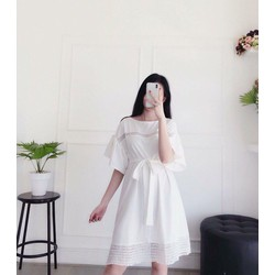 Đầm dáng xuông trắng