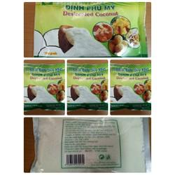 Bộ 5 gói Cơm dừa sấy khô Định Phú Mỹ - loại hạt nhỏ 200g