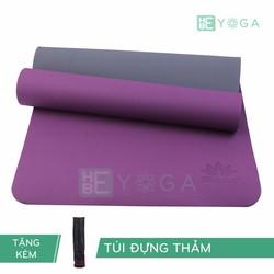Thảm Tập Yoga TPE Zera Mat 2 lớp 8mm màu tím + Kèm túi