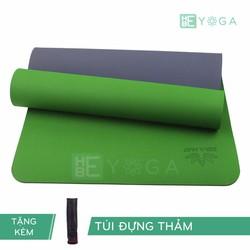 Thảm Tập Yoga TPE Zera Mat 2 lớp 8mm màu xanh lá + Kèm túi