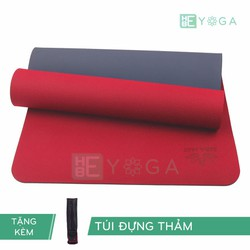 Thảm Tập Yoga TPE Zera Mat 2 lớp 8mm màu Đỏ + Kèm túi