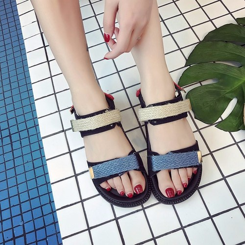 Giày sandal nữ bánh mì cá tính S091D