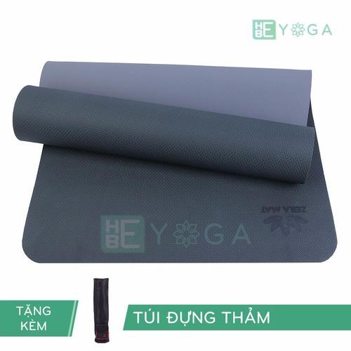 Thảm yoga TPE Zera Mat 1 lớp 8mm màu Xanh rêu + Kèm túi
