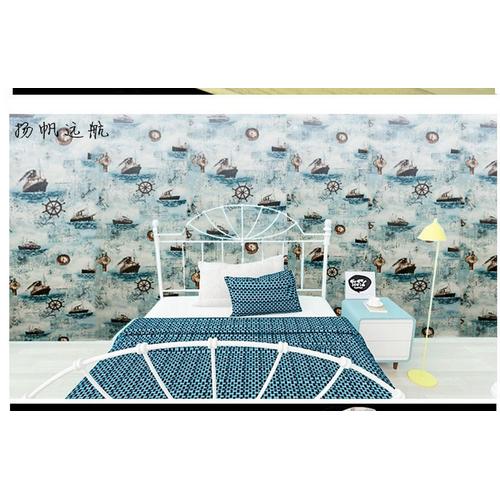 10m Giấy dán tường có sẵn keo biển xanh 5252