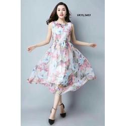 Đầm Maxi voan lụa nhiều màu