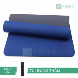 Thảm Tập Yoga TPE Zera Mat 2 lớp 8mm màu xanh coban + Kèm túi