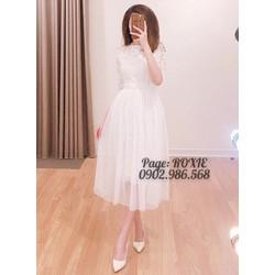 Đầm ren xoè Xinh lung linh