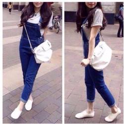 Quần yếm Jeans dài cao Cấp