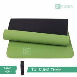 Thảm Tập Yoga TPE Relax 6mm 2 lớp Màu Xanh Lá Tặng kèm Túi