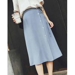 Chân váy xòe phối nút thời trang - form dáng chuẩn - có nhiều size thích hợp mặc công sở, dự tiệc hoặc dạo phố