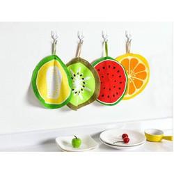 Combo 2 khăn lau tay hình trái cây dễ thương ngộ nghĩnh