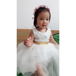 Đầm công chúa nơ kim sa