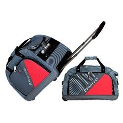 vali túi kéo du lịch Pierre màu xám ghép đỏ
