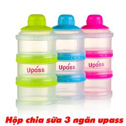 Hộp chia sữa thức ăn 3 ngăn Upass