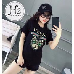 Áo T-shirt in hình mèo cực xinh
