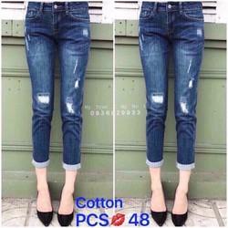 Quần Baggy Jeans Nữ Rách Thời Trang