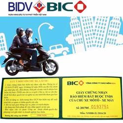Bảo hiểm BIDV 2 năm bắt buộc cho xe máy