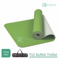 Thảm Tập Yoga TPE Eco 8mm 2 Lớp màu xanh lá + Túi