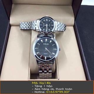 Đồng hồ đôi Halei dây bạc - 128 thumbnail