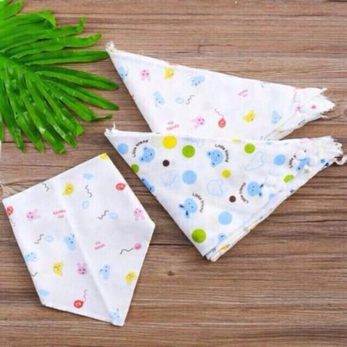 combo 10 khăn tam giác cúc bấm cho bé