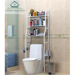 Kệ đựng đồ 3 tầng nhà vệ sinh, phòng tắm Home and Garden màu Trắng