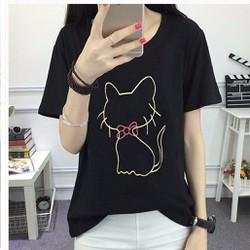 Áo Thun Nữ Hình Mèo Kute - Mẫu Hót Nhất hè 2018