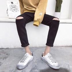 quần jean nam rách gối thời trang