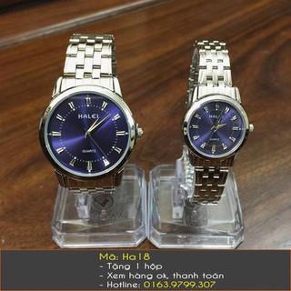 Đồng hồ đôi Halei dây bạc - 129 thumbnail