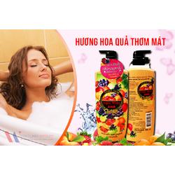 Sữa tắm trắng trái cây AHA Thái Lan 700ml 1
