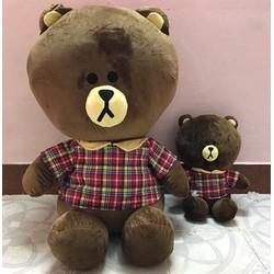 Gấu bông gấu brown mang áo ngồi 1m