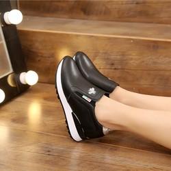 Giày Bata Độn Gót Cao 6cm Phong Cách Hàn Quốc-MS43QC2530